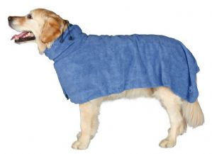 Dog Bath Robe Drying microfibre Towel - trixie Dog